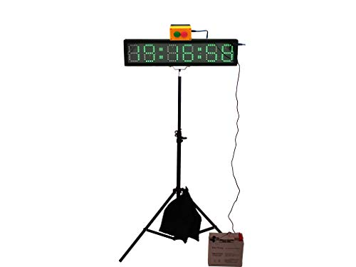 EU 4 Inch Char High 6 Digits RGB(7 Colors) LED Race Timing Clock for Running Events (RGB+Buttons Box)