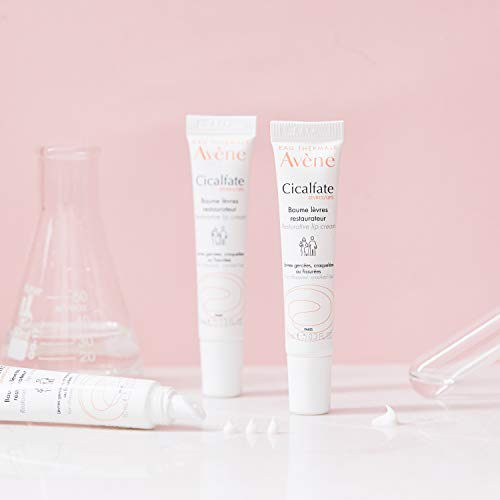 Eau Thermale Avene Cicalfate Restorative Lip Cream, Long Lasting Moisture to Soothe Dry, Cracked Lips, 0.3 oz.