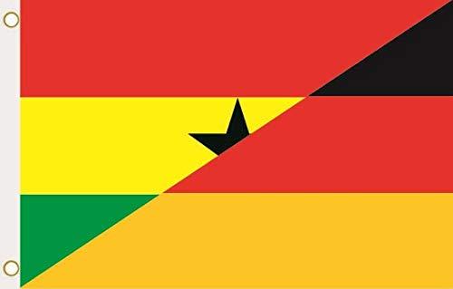 U24 Flagge Fahne Ghana-Deutschland 90 x 150 cm
