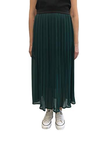 Anita Cottafavi Rock Longuette groen plissé dames elastische taille Made in Italy art.nr. 616 (50)