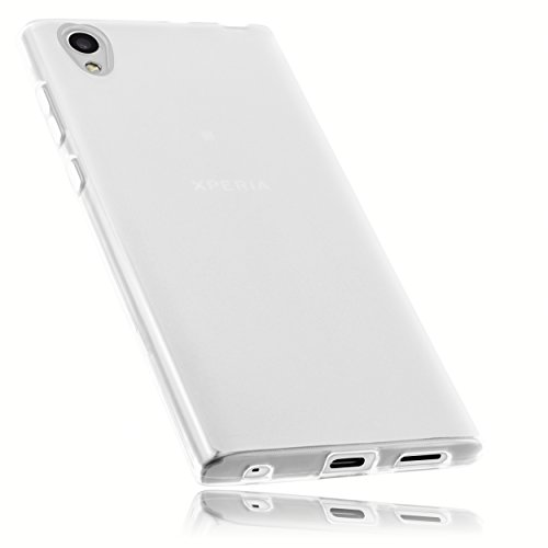 mumbi Hülle kompatibel mit Sony Xperia L1 Handy Hülle Handyhülle, transparent weiss
