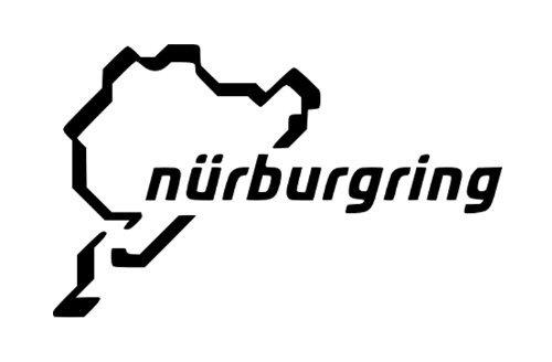 Nurburgring Track Map Racing Car Symbol Lustiger Stoßstangenaufkleber Van Bike Aufkleber gratis P & P