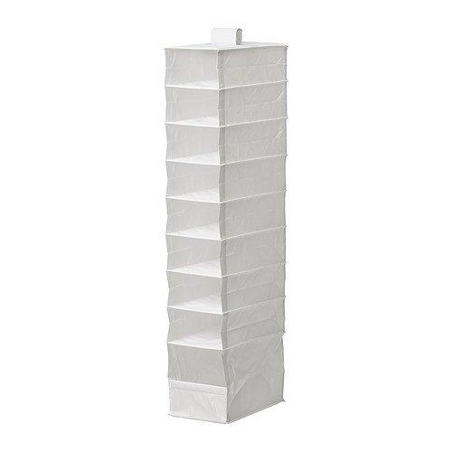 IKEA SKUBB Hängeaufbewahrung-Aufbewahrungsbox mit 9 Fächern, Weiß, 22 x 34 x 120 cm