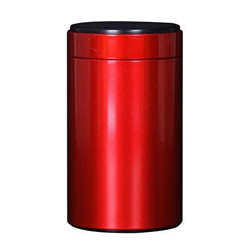 Exceart 3-Delige Roestvrijstalen Jerrycansets Ideaal Voor Suiker Koffie Thee Meel (Rode Maat 160)
