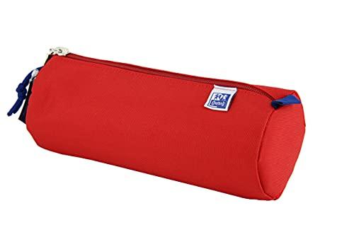 Oxford - Estuche escolar redondo grande, kangoo kids con goma, 22 cm, color rojo