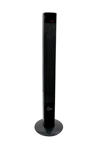 SUNTEC-torenventilator met afstandsbediening en timer | statiefventilator zwart | CoolBreeze 12000 - stil, 45 watt | statiefventilator met 3 standen | windmachine met ventilator | voor slaapkamer en kantoor