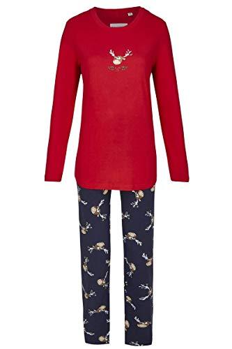 Ringella Damen Pyjama Christmas rot 48 9511291, rot, 48