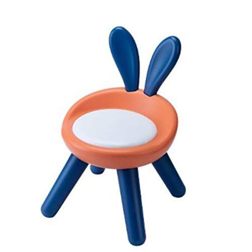 WFF Sedia Imbottita Antiscivolo Sedia per Bambini Seggiolino per Bambini Sedile Sgabello (Color : Orange)