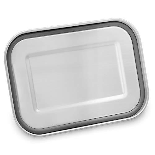 Cucino® | Dichte Edelstahl Brotdose mit Trennwand (flexibel), BPA- & Plastikfreie Bento Box ideal für Kinder…