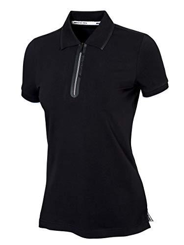Mercedes-Benz Collection AMG Poloshirt Damen | Slimfit Poloshirt im AMG Design aus 95% Baumwolle und 5% Elasthan | zweifarbiger Reißverschluss & 1x1-Rippe Kragen