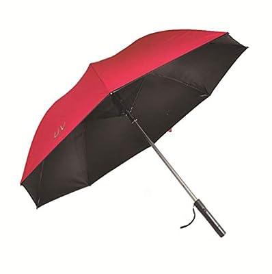 HYFZY Folding Umbrella Built-in Fan - UV Protection, Windproof Umbrella, Outdoor car rain - Keep You Cool,red