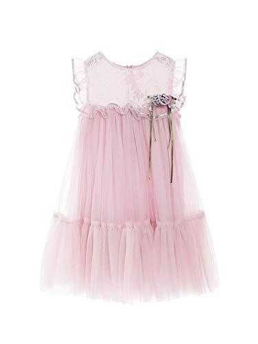 Zedde Vestido Fiesta Niña 1-8 Años Ceremonia de la Boda Flores con Encaje