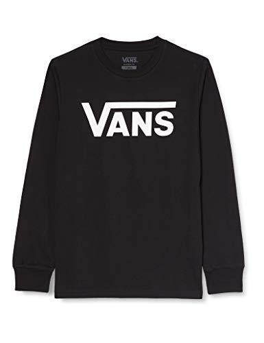 Vans Classic LS Camiseta de Manga Larga para Hombre (Black/White), XXL