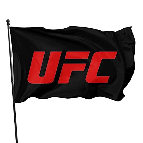ChenMingGao Home Decoration UFC Logo Garden Flag - Bandera para interior y exterior (3 x 5 m)