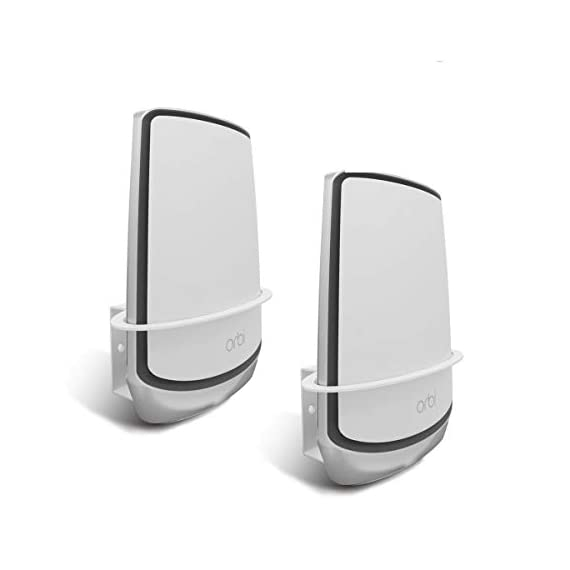 Orbi WiFi 6 Wall Mount, ALLICAVER Sturdy Metal Made Wall Mount Bracket Compatible with Netgear Orbi WiFi 6 Router RBK852… 1 ✅【Sturdy Metal Made】 :-Made of metal, sturdy and reliable. Especially design for your Netgear Orbi Wifi 6 (Orbi is not included) . ✅【Stronger Signal and Safety】 :-Acquire a stronger wifi 6 signal when mounting high on the wall, keeps your Orbi out of the way of pets, and child. ✅【Stabilize your Orbi】 :-Two holes on the bottom of the bracket, 2 fasteners included which can attach the Orbi wifi 6 to the bracket.