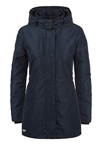 DESIRES Melody Damen Übergangsjacke Mantel Parka leichte Jacke mit Kapuze, Größe:L, Farbe:Insignia Blue Melange (8991)
