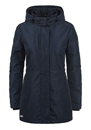 DESIRES Melody Damen Übergangsjacke Mantel Parka leichte Jacke mit Kapuze, Größe:XL, Farbe:Insignia Blue Melange (8991)
