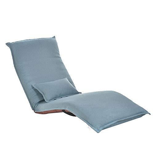 Lzcaure Sillón Silla de sofá Ajustable para Juegos en el Piso Sillón reclinable con sofá Cama de múltiples Posiciones y Cinco Posiciones 7 Colores Mueble del Salón (Color : Blue, Size : Free Size)