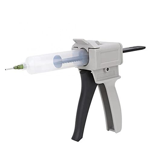 Yanhuigang Pistola de calafateo ampliamente Utilizada Dispensador de 30 ml Pistola de Pegamento plástico Manual de plástico Herramienta de manija de Tubo Simple para presionar la Apretada.