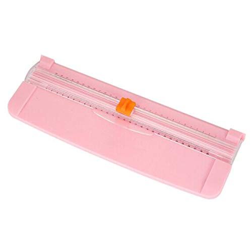 Guillotina de papel, Portátil cizalla papel, GHKJOK Guillotina Con Protección de Seguridad, Rosa GuillotinadepapelA4 para el corte estándar de papel A3 A4 A5, fotos o etiquetas