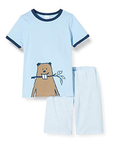 Schiesser Jungen Kn Kurz Zweiteiliger Schlafanzug, Blau (hellblau 805), (Herstellergröße:104)
