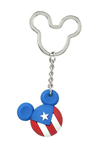 Disney Mickey Icon Ball Key Ring - Puerto Rico Key Accessory,Multi-colored,3'