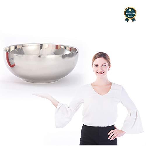 Beckye Schüssel aus Edelstahl, Rührschüssel, Salatschüssel mit hohem Rand, multifunktionale Küchenschüssel, Servierschüssel, Edelstahlschüssel für Küche, Salat, Teig, rund