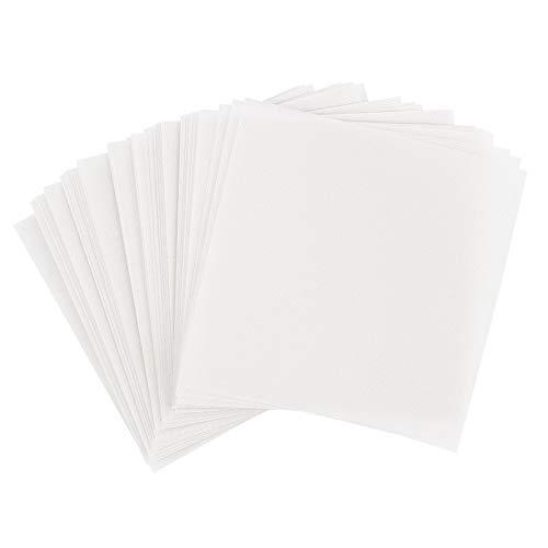 Ideen mit Herz Transparentpapier | 100 Blatt | quadratisch | Premium-Qualität | 110 g/qm | ideales Faltpapier zum Sterne basteln | transparentes Bastelpapier (weiß, 20 x 20 cm)
