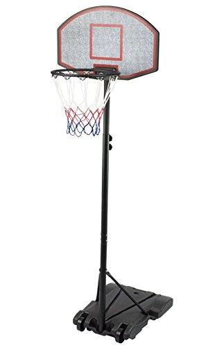 Sports God Height Adjustable Portable Youth Basketball Hoop System with 28 Inch Backboard (Black)
