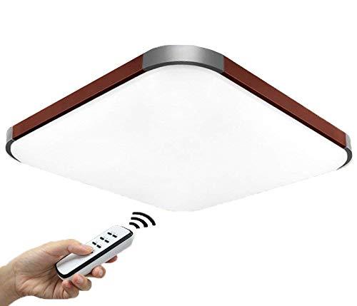 Natsen® 50W LED Deckenlampe Modern Wandlampe Braun Deckenleuchten dimmbar mit Fernbedienung 650 * 650 * 105 mm I501H