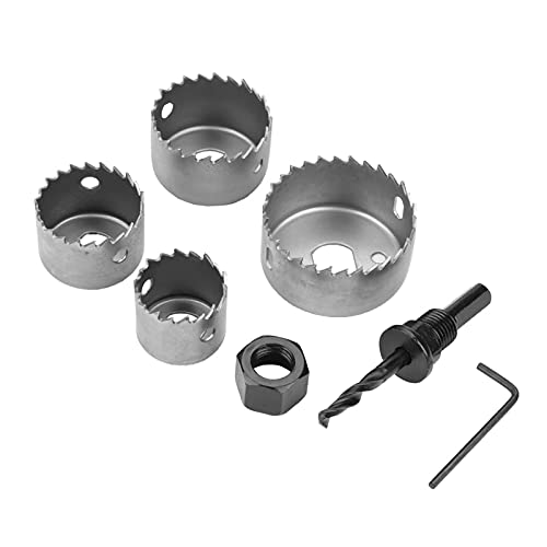 CML 1 Set 32/38/44/54mm High Carbon Steel Hole Saw Drill Bit Cutter For Woodworking Wood Metal Drilling Cutting Carpentry Crowns Set