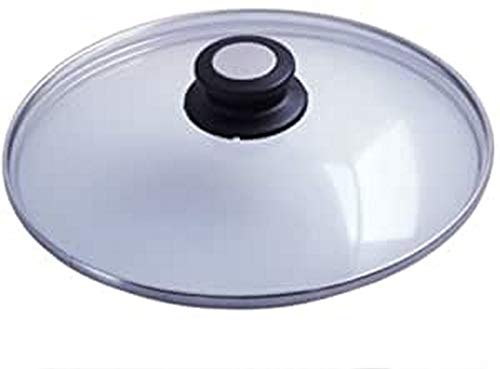DE BUYER -4112.24 -couvercle verre bouton bak./inox ø 24cm