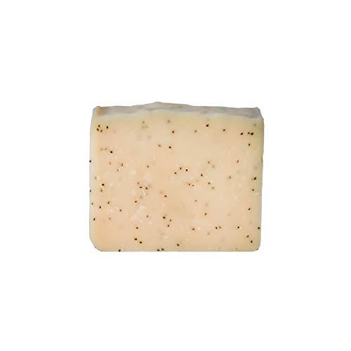 Mijo POPPY Peelingseife mit Mohn, Peeling Naturkosmetik mit Kakaobutter, Bio Olivenöl, Aloe Vera, ohne Palmöl ca. 100 g