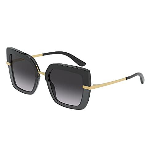 Dolce & Gabbana 0DG4373 Occhiali, Top Black ON Transparent Black, 52 Donna