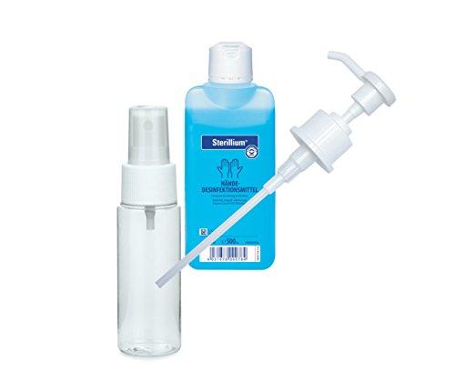 Bode Sterillium Händedesinfektion 500 ml mit Gratis Pumpe und Sprühflasche