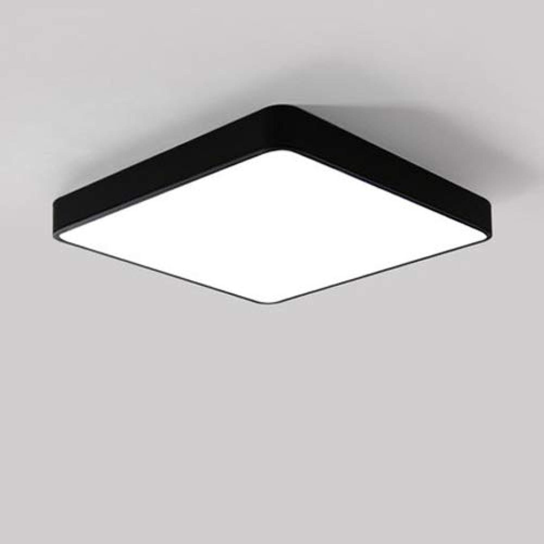 AXWT Nordic Led Deckenleuchte Schlafzimmer Wohnzimmer Licht Platz Moderne Einfache Eingang Küche Korridor Gang Balkon Lampe Kronleuchter Deckenleuchte (Farbe   schwarz-TriFarbe light 18W)