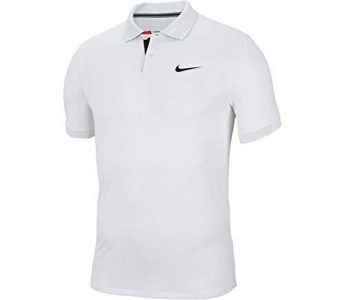 Nike - Polo da tennis da uomo Breathe Advantage MB NT, Bianco/Nero, Medium