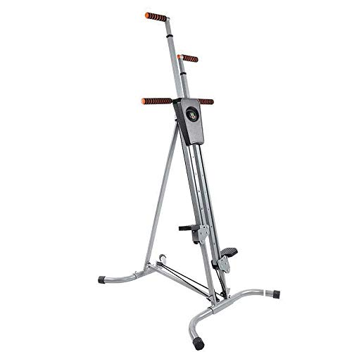 quiet vertical climber - 330Lbs Sturdy & Durable Steel Construction Max Climber Vertical Stepper Exercise Fitness Adjustable Height, Smooth & Quiet with Monitor & Manual Sealed Perfect Machine for Home, Offices Or Gym Club