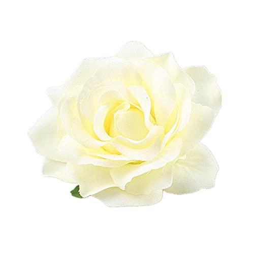 rosa flor horquilla brida boda boda broche clips de cabello cabewear gangls festival cabello accesorio