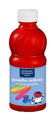Lefranc Bourgeois - Gouache liquide Redimix pour enfants - Bouteille 250ml - Rouge primaire