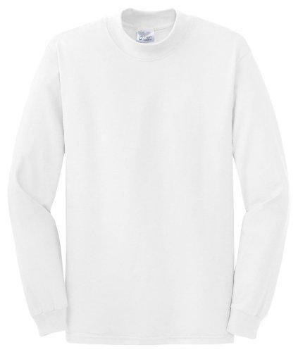 Port & Company Men's Mock Turtleneck - X-Large - White