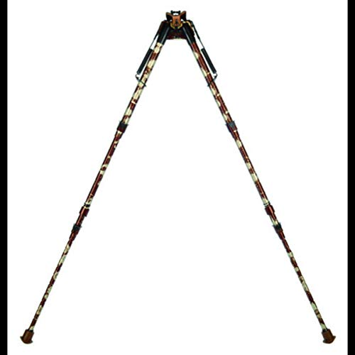 Caldwell Camo XLA Pivot 13.5-27 Inch Bipod with Adjustable Notched Legs and Slim Folding Design for Easy Transport, Rifle Stability, and Target Shooting