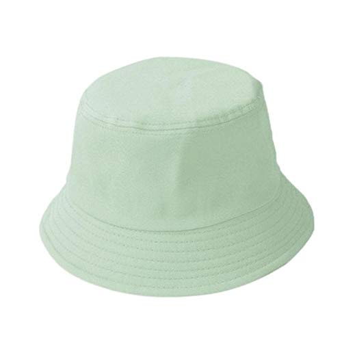 Fisherman's Hat Solid Bucket Hat Men'S And Women'S Children'S Straw Hat Cotton Leisure Fisherman Hat Outdoor Sun Protection Fishing Hip Hop Sun Hat Adult(55-59)