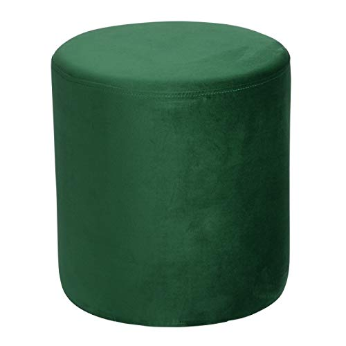 TABLE PASSION - Pouf Joye Velours 40 cm Vert