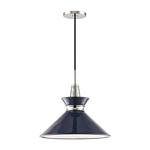 Mitzi Kiki 14' Wide Navy Blue Modern Pendant Light