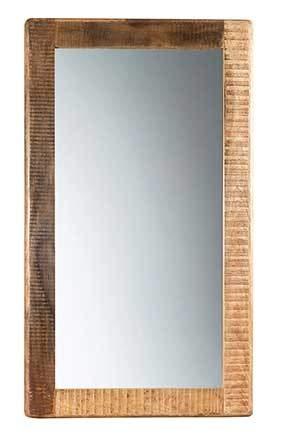 Licht-Erlebnisse Großer Spiegel HEMLEY 90x160 cm Mangoholz Glas Vintage Flur Wohnzimmer Schlafzimmer