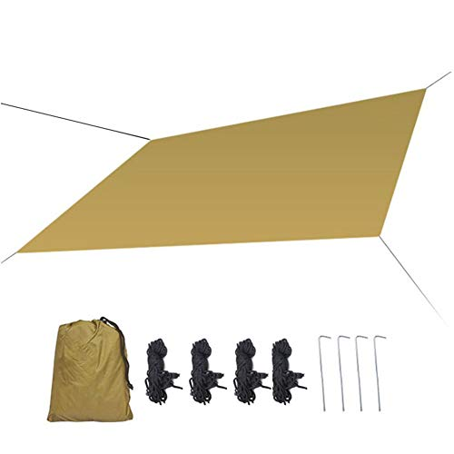Massage-AED Toldo de Refugio Impermeable, Portátil, para Camping y Protección contra Todo Tipo de Clima Carpa Lluvia Mosca Tarp, Camping Lona, Refugio Tarp