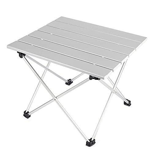 HSTG Mesa de Senderismo de aleación de Aluminio Viajar, Tabla portátil Plegable Plegable, Adecuado para cocinar al Aire Libre, Mochila, Plegable de RV, Viajes
