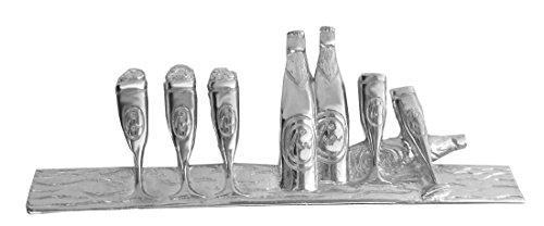 magdalena r. Bier Pils Krawattennadel Krawattenklammer Glas 6 cm l. silbern glänzend m.i. Germany + Silberbox