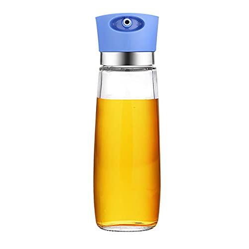 LGQ Engrasador doméstico Aceite de Vidrio Botella de vinagre Aceite de sésamo Vino de Cocina Botella de Salsa de Soja Cocina a Prueba de Fugas condimento sazonador portátil,Azul
